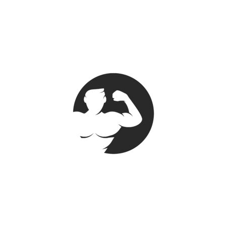 Fitness logo vector flat design Ilustracja