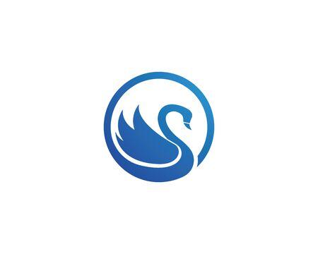 Swan logo Template vector illustration design