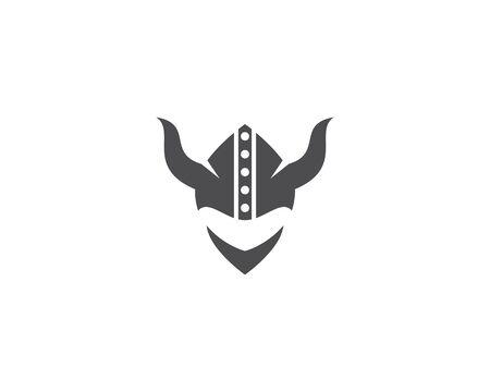 Viking Helmet logo template vector
