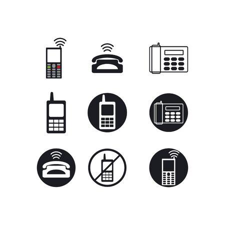 Telephone icon customer service call logo vector flat design Illusztráció
