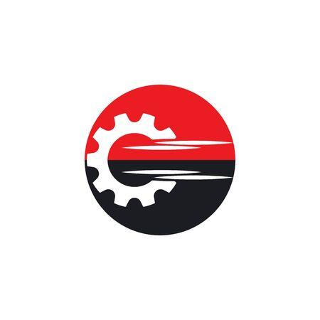 Gear Logo Template vector icon illustration design Ilustração