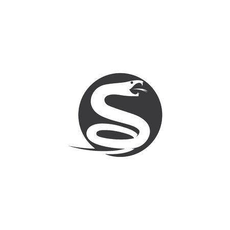 Snake logo vector ilustration template Illusztráció