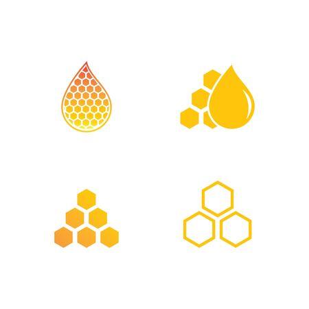 Honeycomb ilustration vector template Foto de archivo - 137492814