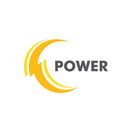 Lightning energy Logo Template vector icon illustration design Иллюстрация