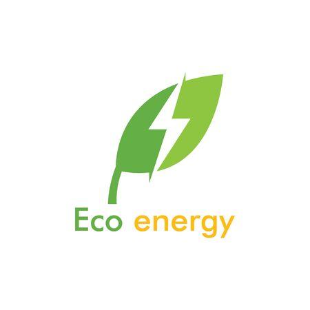 Eco energy Logo Template vector icon illustration design Иллюстрация
