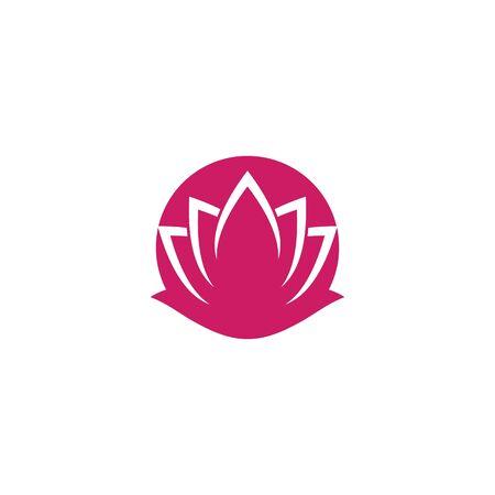 Beauty Lotus flowers logo Template Vector