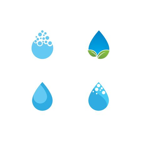 water drop Logo Template vector illustration design  イラスト・ベクター素材