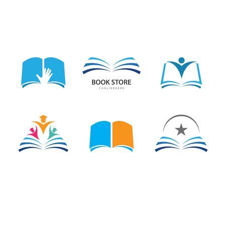 Book education Logo Template vector Illustration design
