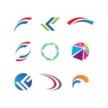 Business circle logo template vector