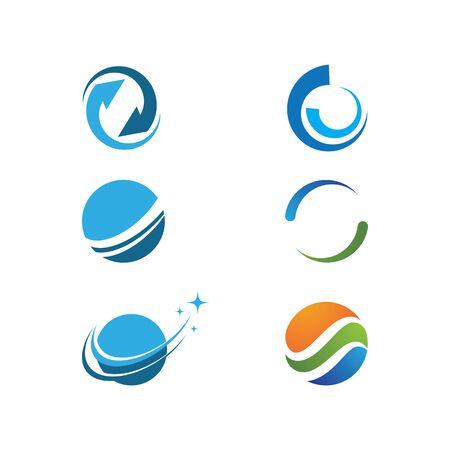 Abstract Circle technology logo vector template