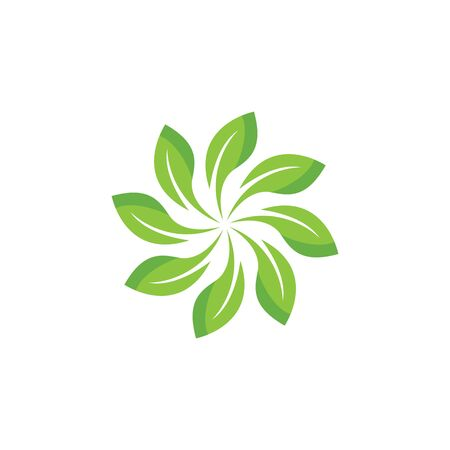 Green leaf logo ecology nature element vector icon