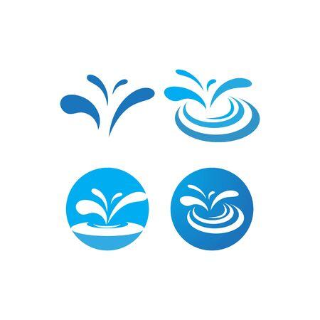 Water Splash logo vector ilustration  イラスト・ベクター素材