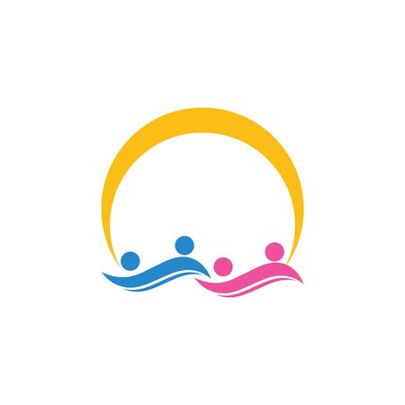 community care Logo template vector  イラスト・ベクター素材