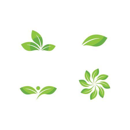 Green leaf logo ecology nature element vector