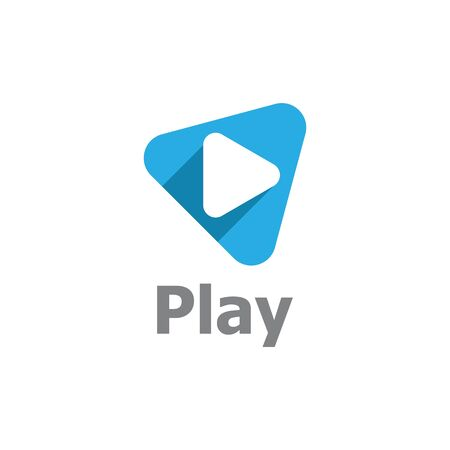 Play logo Vector icon template  イラスト・ベクター素材