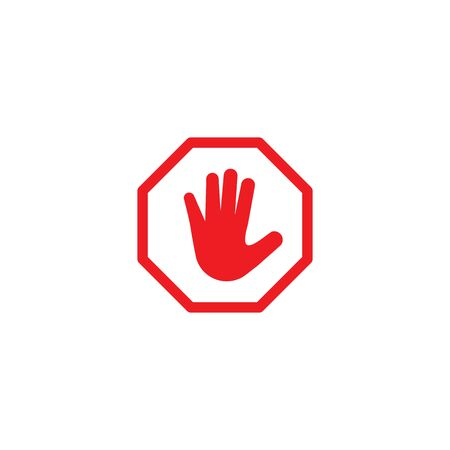 blocking Stop Icon vector template