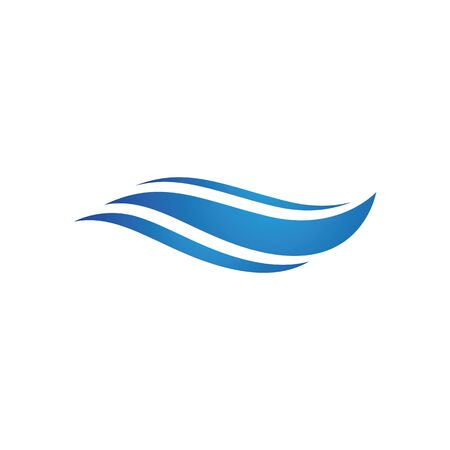 Water wave Logo design vector Template