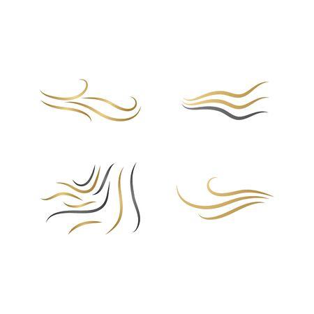 Hair wave logo vector icon template