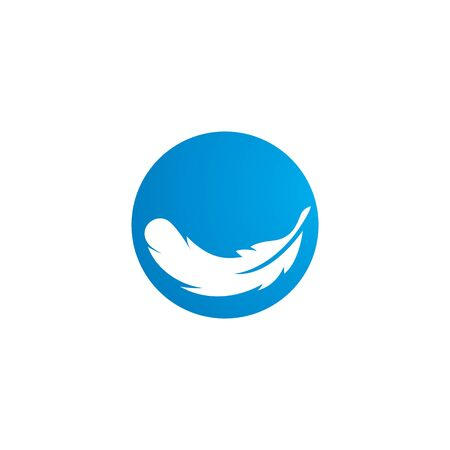 Feather ilustration  logo vector template 向量圖像