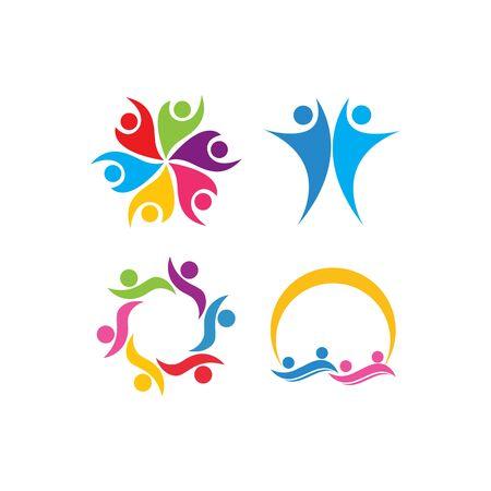 community care Logo template vector 向量圖像