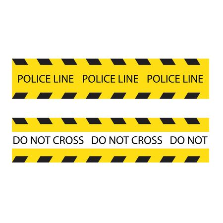 police line logo vector illustration design Ilustracja
