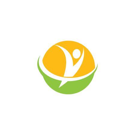 Healthy Life people Logo template vector 向量圖像