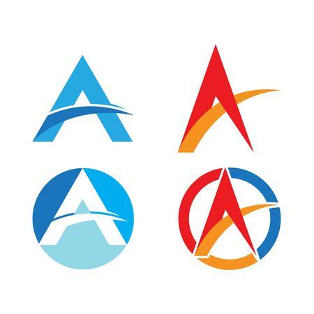 A Letter Alphabet font logo vector design 向量圖像