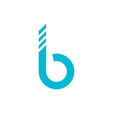 B Letter Alphabet font logo vector design