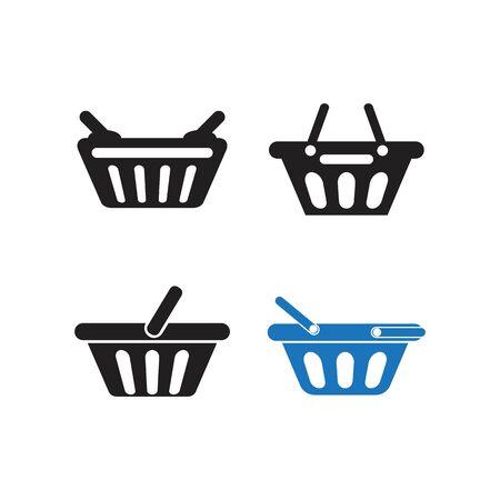 Basket shooping logo icon vector illustration