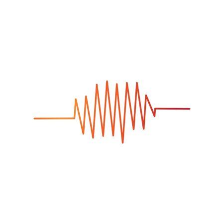 sound wave music logo vector template Иллюстрация