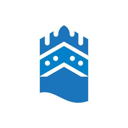 castle logo vector ilustration template Archivio Fotografico - 138452798