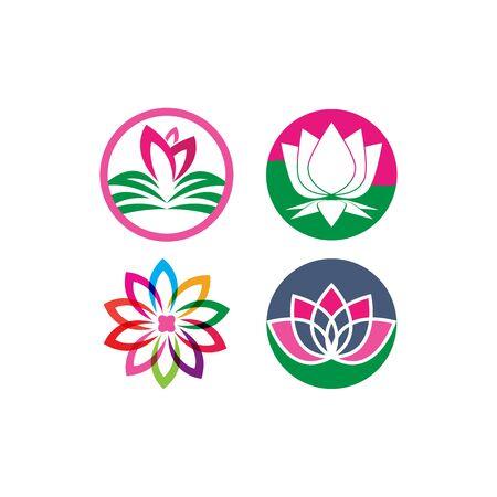 Lotus flowers logo Template icon Ilustrace