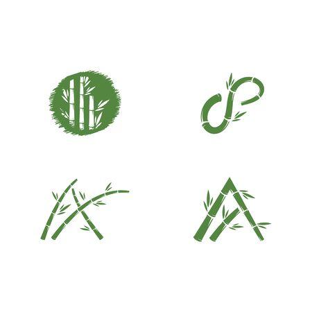 Bamboo logo ilustration vector template Ilustrace