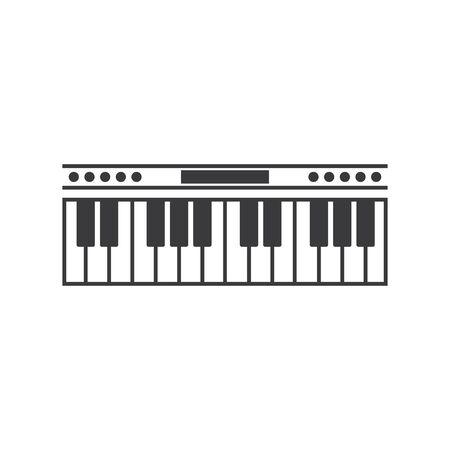 Piano icon vector ilustration template Imagens - 138452901