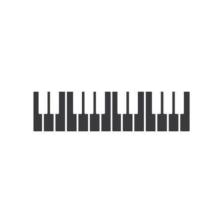 Piano icon vector ilustration template Imagens - 138452906