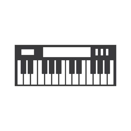 Piano icon vector ilustration template Standard-Bild - 138453141