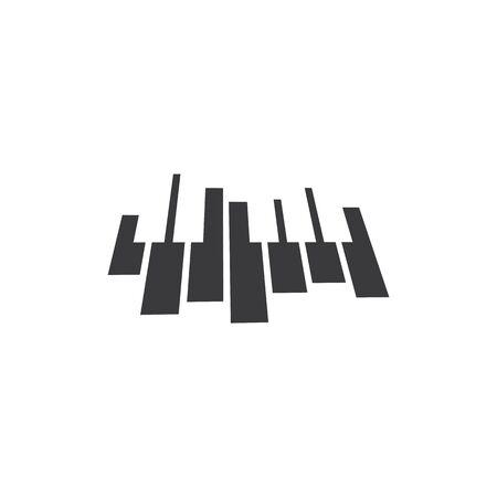 Piano icon vector ilustration template Imagens - 138453140