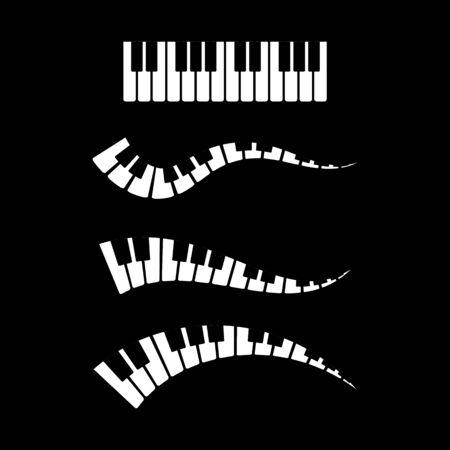 Piano icon vector ilustration template Imagens - 138453156
