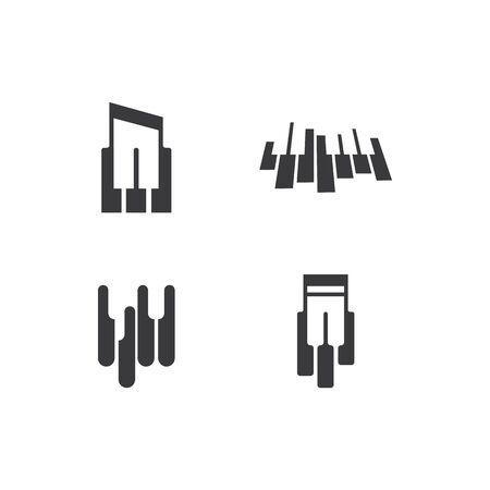 Piano icon vector ilustration template Imagens - 138453271