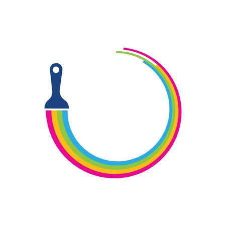 Paint logo business vector icon template Archivio Fotografico - 138453341