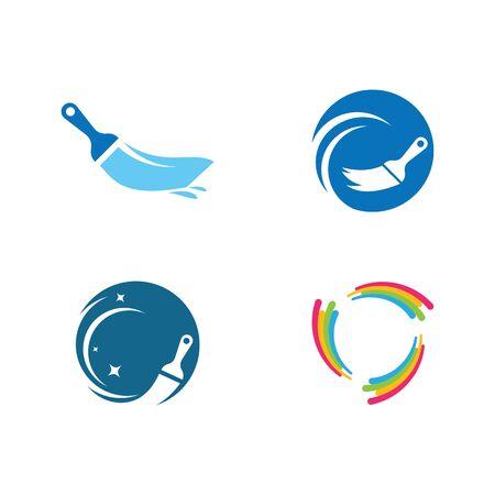 Paint logo business vector icon template Archivio Fotografico - 138453348