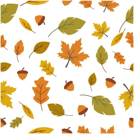 Autumn seamless background wallpeper vector illustration Banque d'images - 138453396