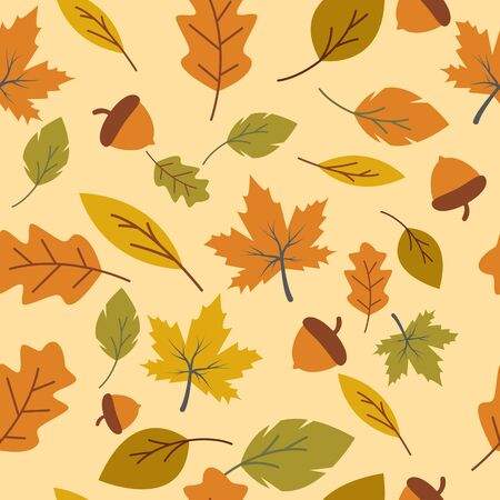 Autumn seamless background wallpeper vector illustration Banque d'images - 138453397