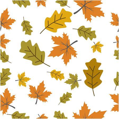 Autumn seamless background wallpeper vector illustration Ilustracja