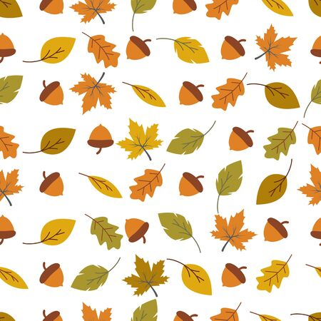 Autumn seamless background wallpeper vector illustration Banque d'images - 138453401