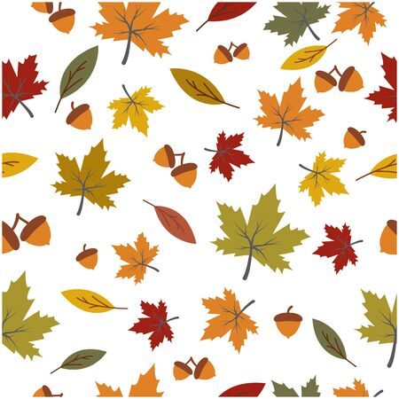Autumn seamless background wallpeper vector illustration Banque d'images - 138453405