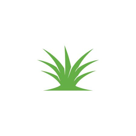 Natural Grass ilustration logo vector design