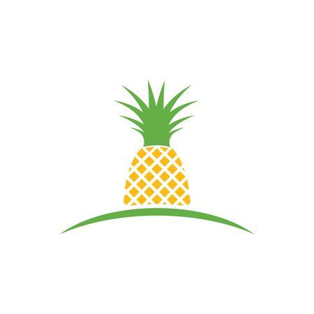 Pineapple logo ilustration vector template