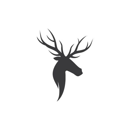 Deer ilustration logo vector template Illustration