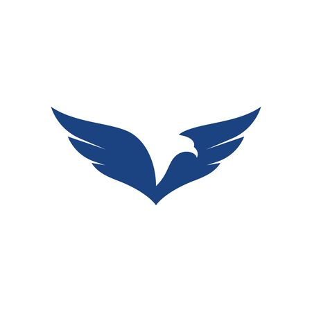 Falcon Eagle Bird Template vector icon